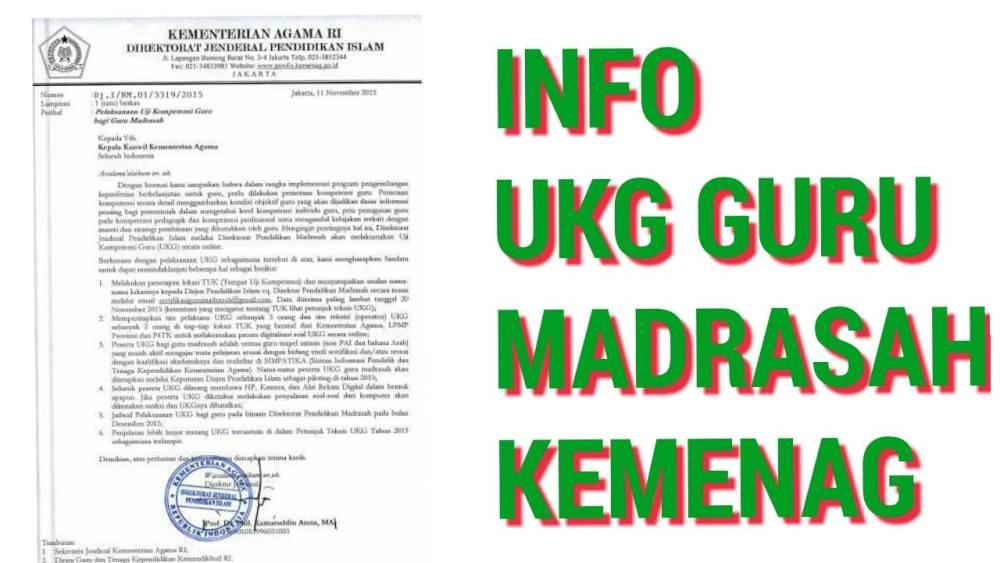 UKG Kemenag Dilaksanakan Desember 2015, Diikuti Semua Guru Mapel Kecuali ... (1/2)